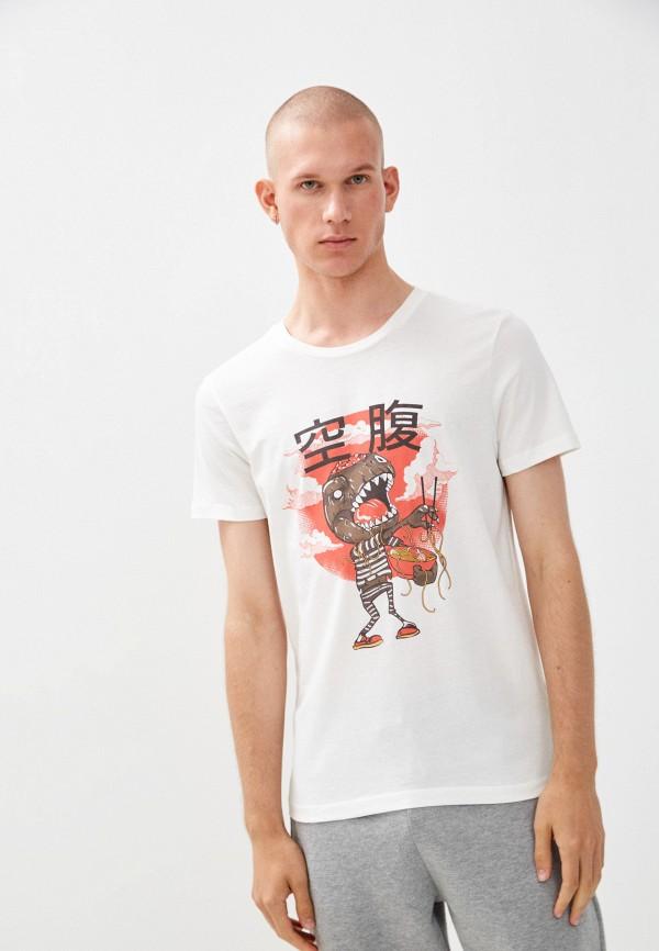 мужская футболка с коротким рукавом colin's, белая