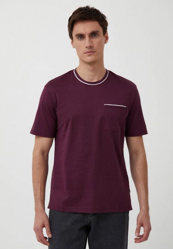 мужская футболка с коротким рукавом finn flare, бордовая