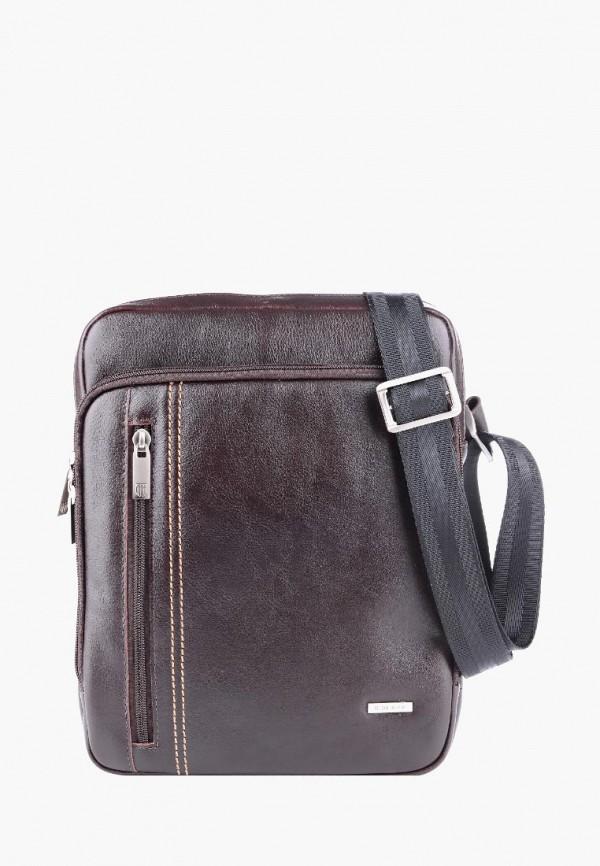 мужская сумка через плечо r.blake collection for men, коричневая