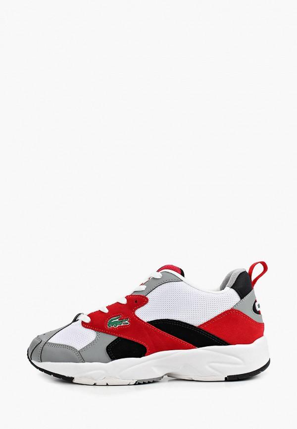 мужские низкие кроссовки lacoste, красные