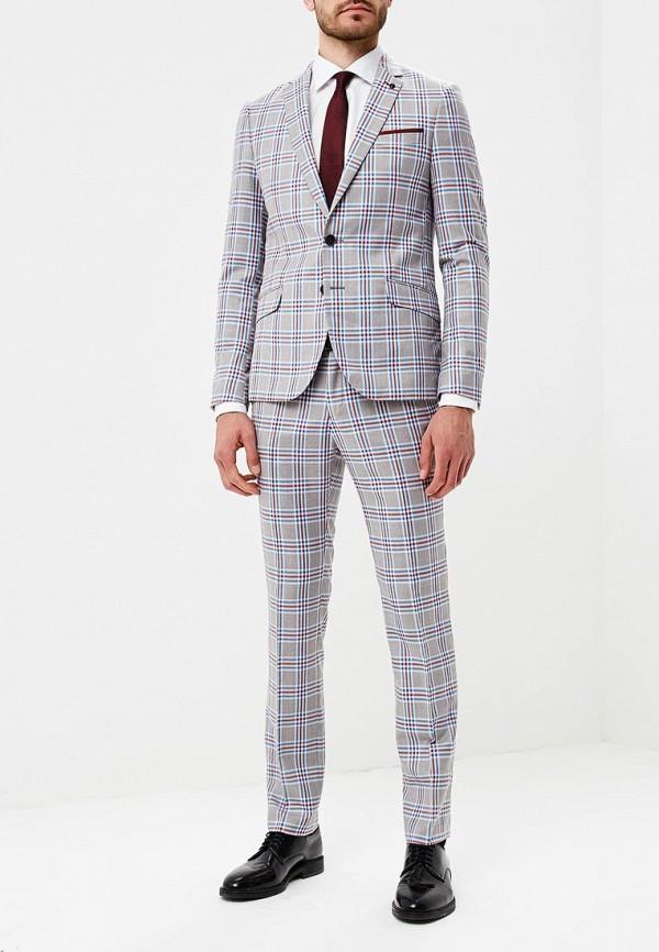 мужской костюм laconi, серый