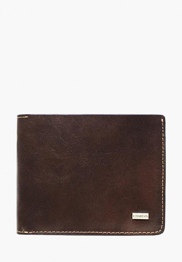 мужской кошелёк edmins, коричневый