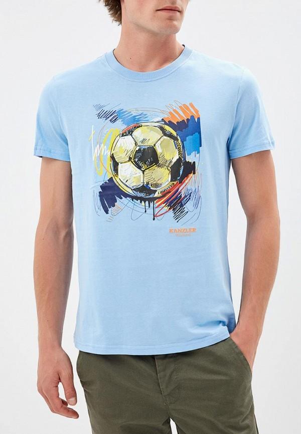 Купить Футболка Kanzler, mp002xm23r3d, голубой, Весна-лето 2018