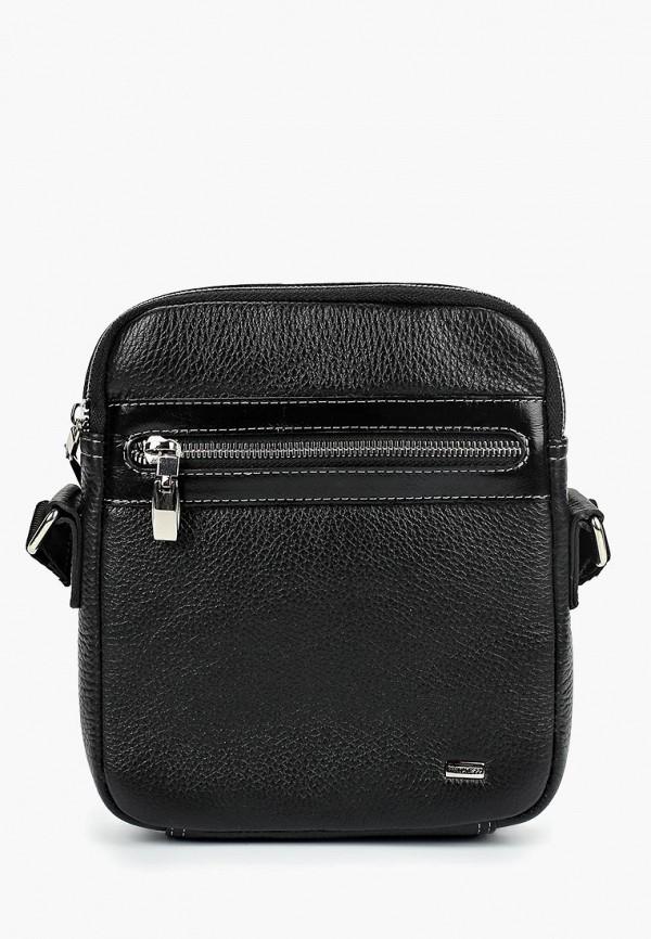 мужская сумка через плечо franchesco mariscotti, черная