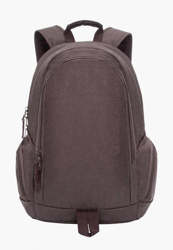 мужской рюкзак grizzly, коричневый