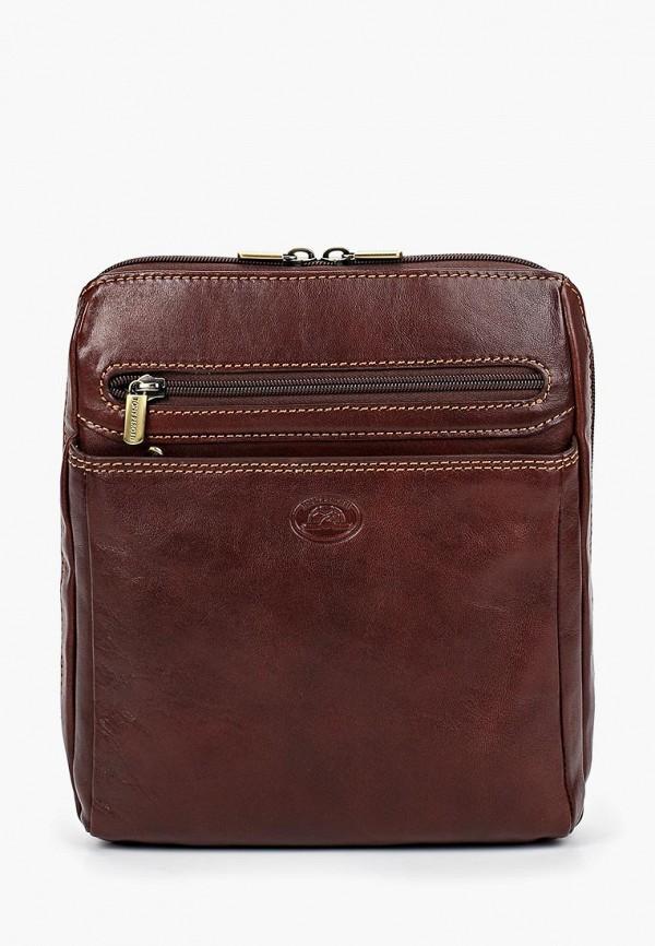 мужская сумка tony perotti, коричневая