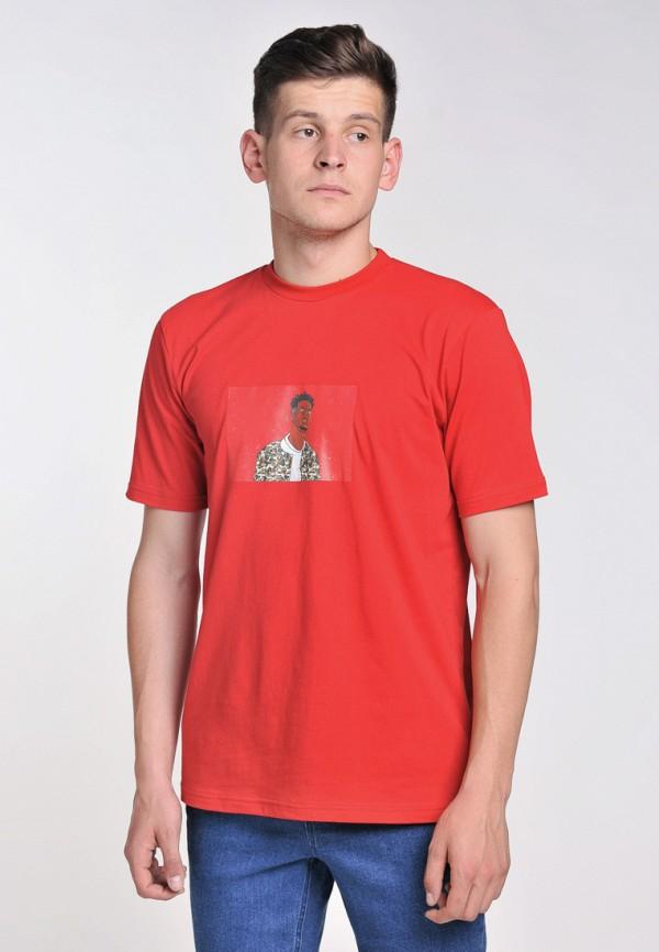мужская футболка с коротким рукавом bezet, красная