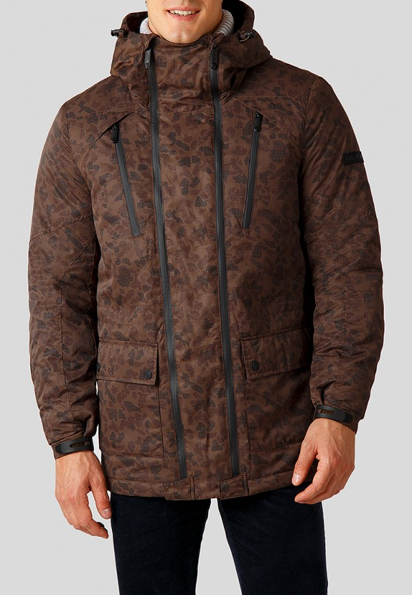 Купить Куртка утепленная Finn Flare, MP002XM23TQ1, коричневый, Осень-зима 2018/2019