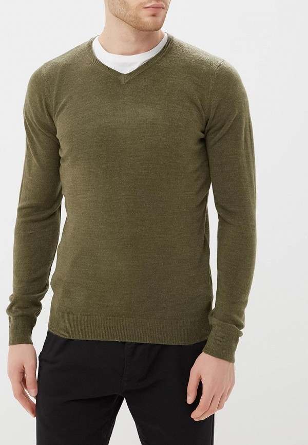 Пуловер  хаки цвета
