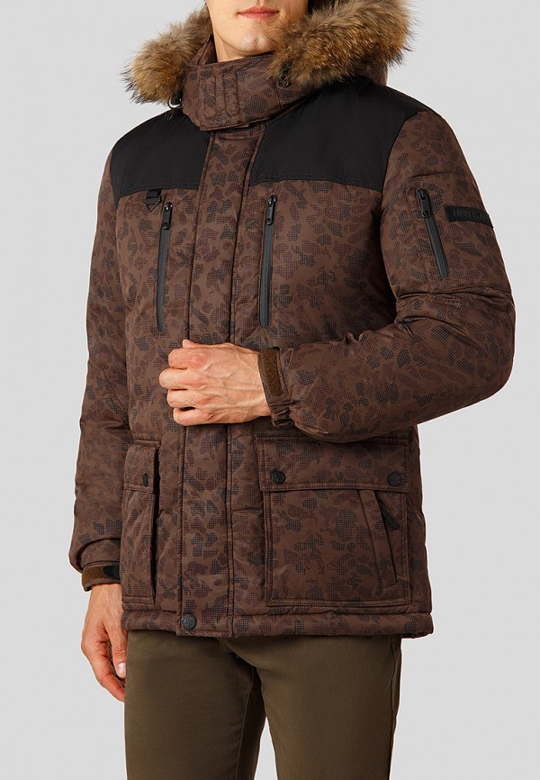 Купить Пуховик Finn Flare, MP002XM23UDP, коричневый, Осень-зима 2018/2019