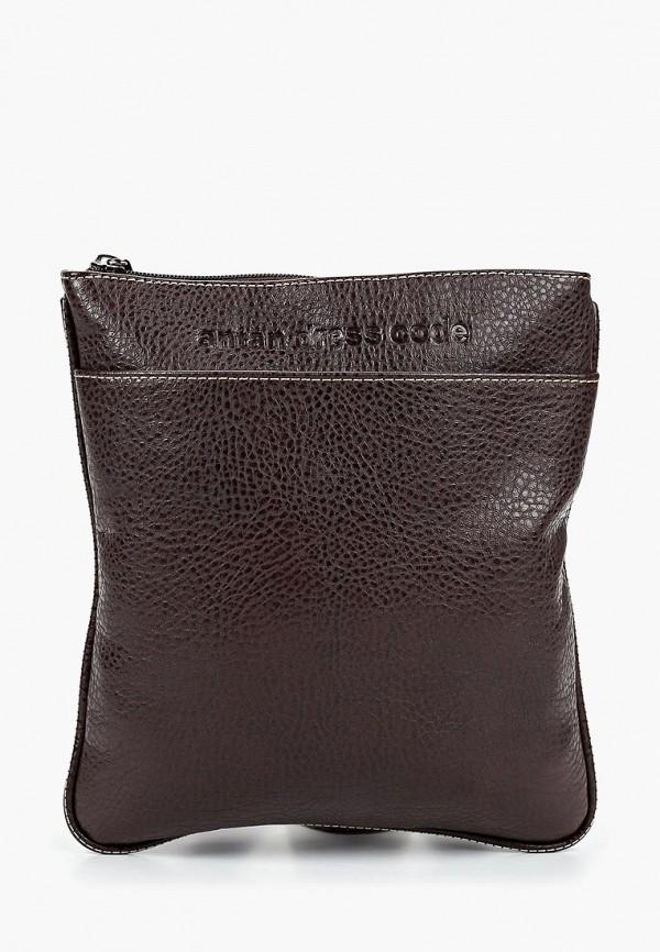 мужская сумка antan, коричневая