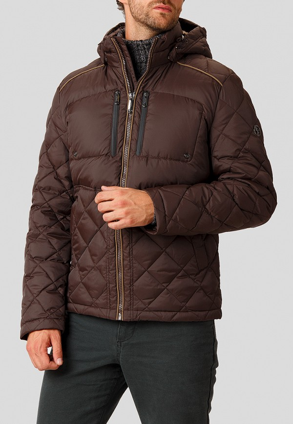 Купить Пуховик Finn Flare, MP002XM23UIT, коричневый, Осень-зима 2018/2019