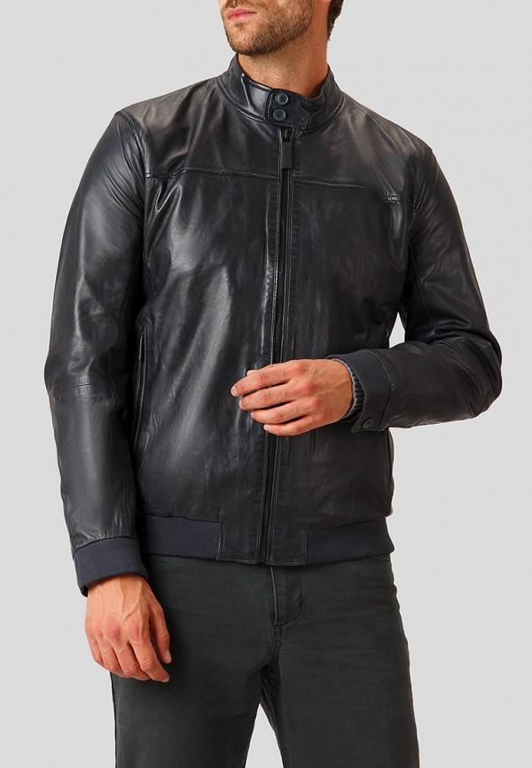 Купить Куртка кожаная Finn Flare, mp002xm23uj0, синий, Осень-зима 2018/2019