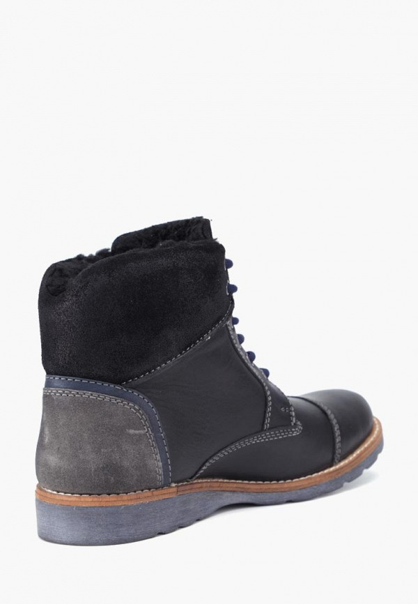 Фото 2 - Мужские ботинки и полуботинки Airbox черного цвета