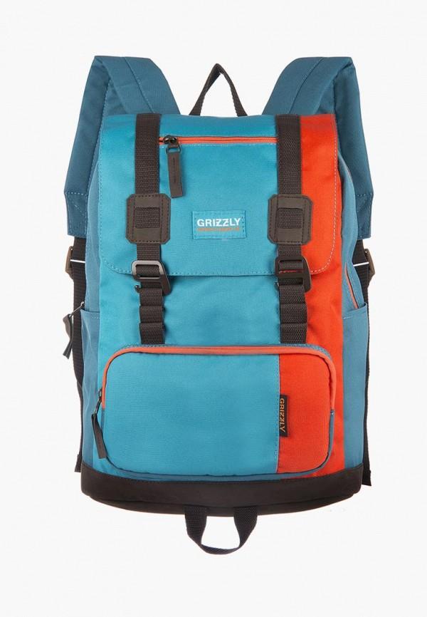 мужской рюкзак grizzly, бирюзовый