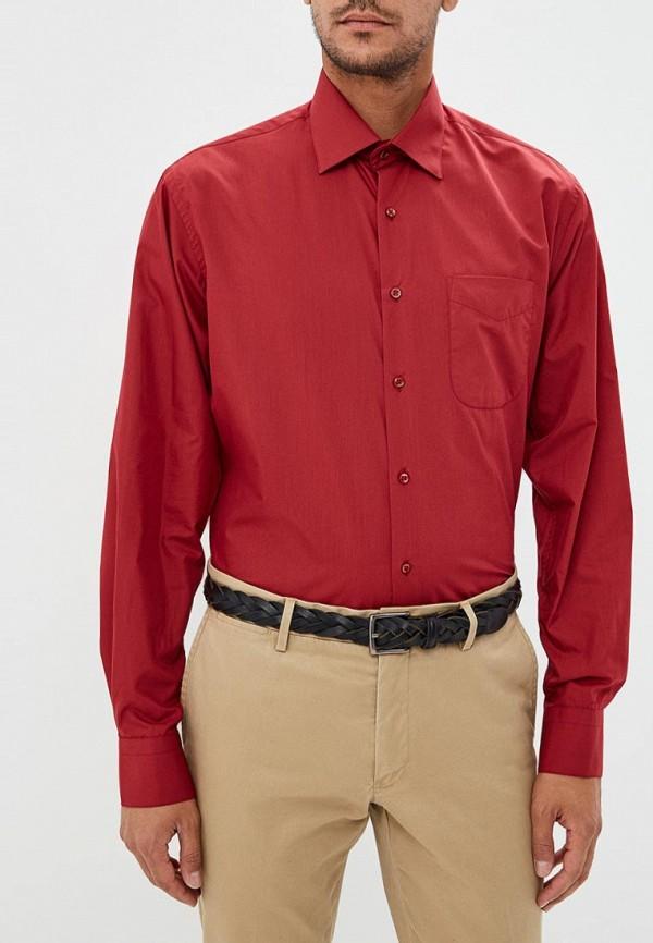 мужская рубашка с длинным рукавом fayzoff s.a, бордовая