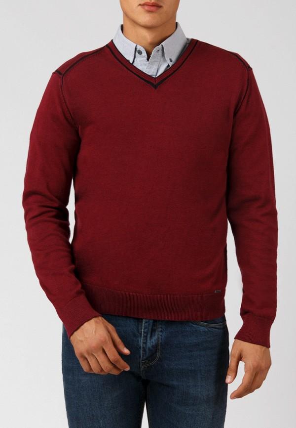 мужской пуловер finn flare, бордовый