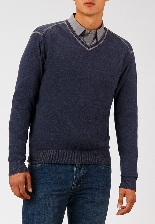 Купить Пуловер Finn Flare, MP002XM23W9C, синий, Осень-зима 2018/2019