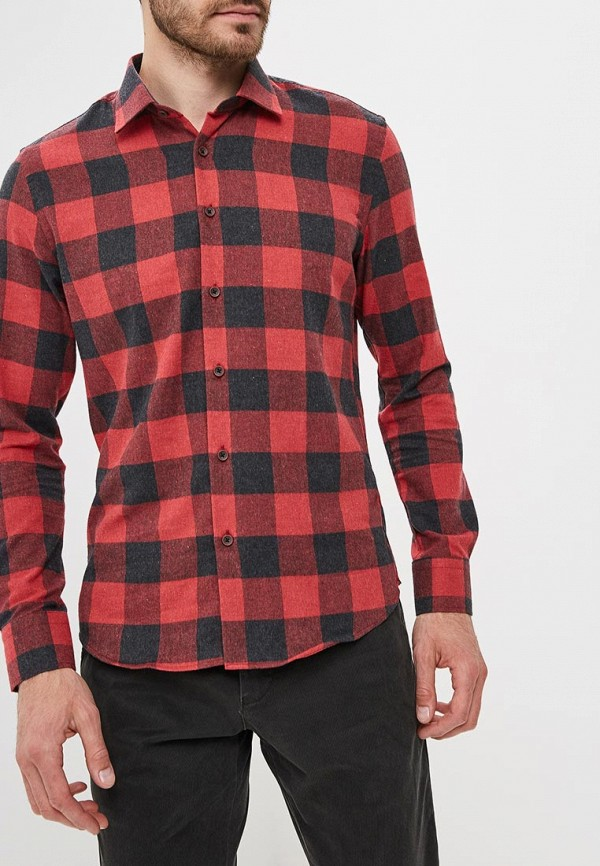Купить Мужскую рубашку Biriz красного цвета