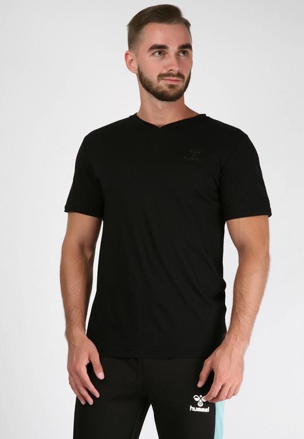 мужская футболка с коротким рукавом hummel, черная