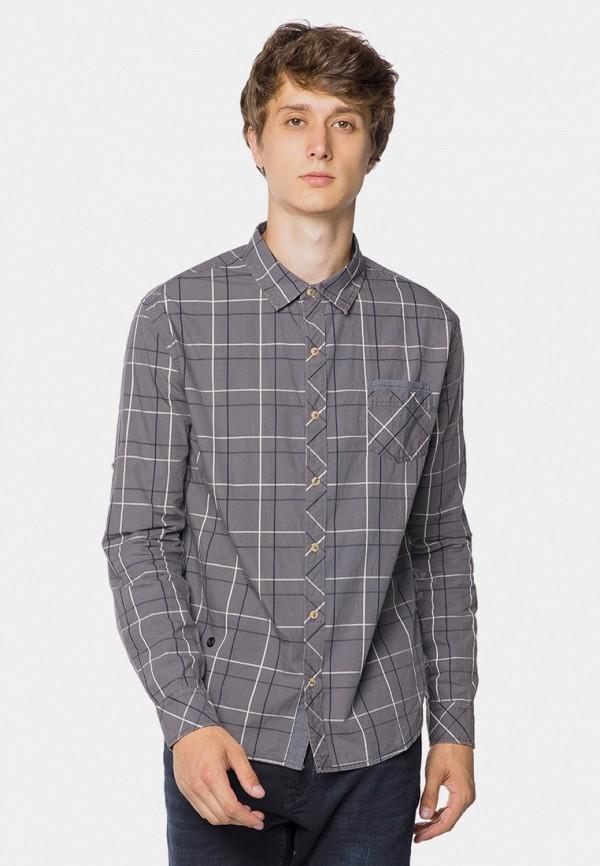 мужская рубашка с длинным рукавом mr520, серая