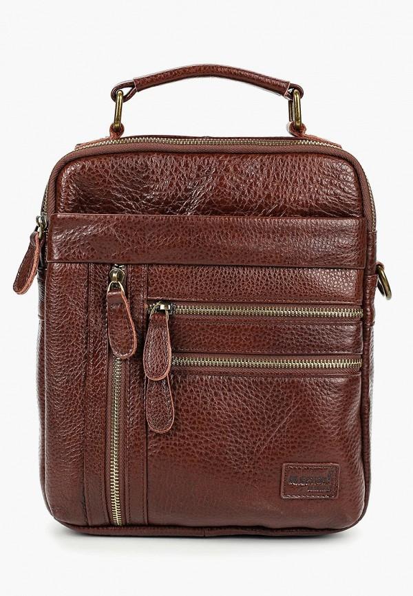 мужская сумка dr.koffer, коричневая