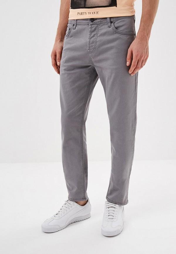 мужские зауженные брюки colin's, серые