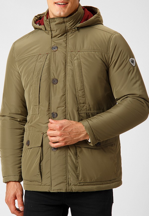 Купить Куртка утепленная Finn Flare, MP002XM23X45, хаки, Осень-зима 2018/2019