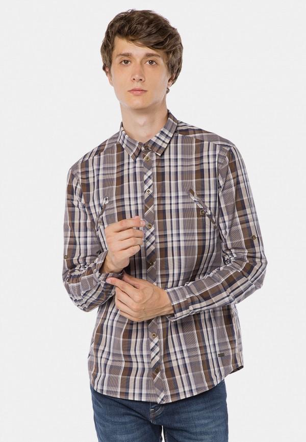 мужская рубашка с длинным рукавом mr520, коричневая