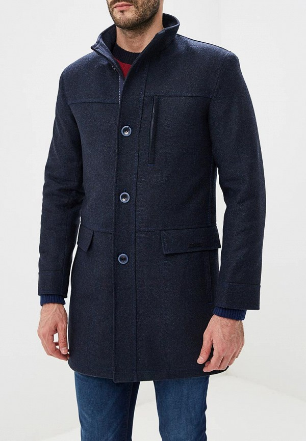 Пальто Bazioni синего цвета