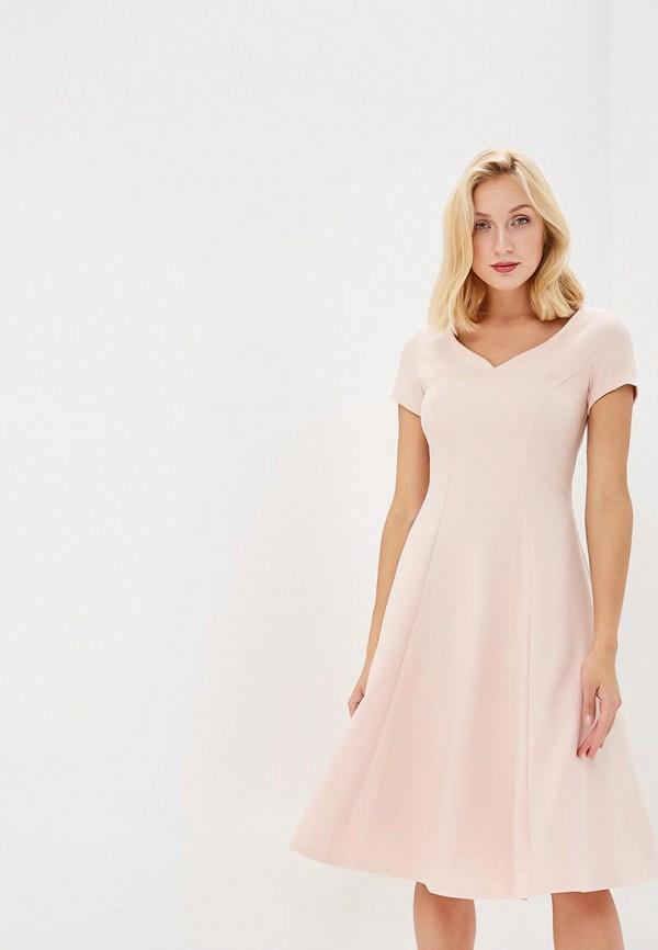 Платье  розовый цвета