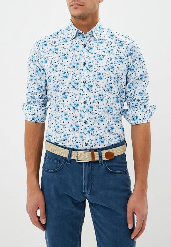мужская рубашка с длинным рукавом bawer, белая