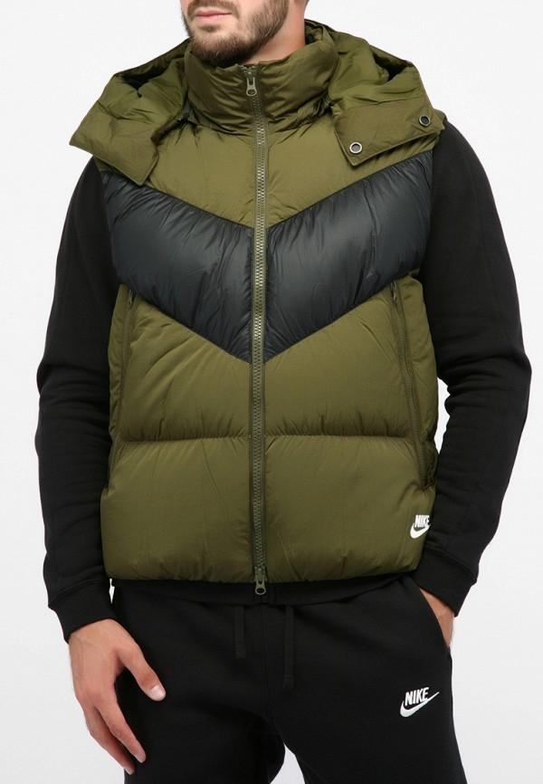 мужской жилет nike, зеленый