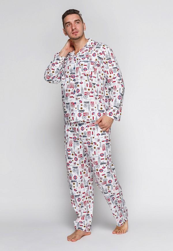 мужская пижама cyberjammies, белая