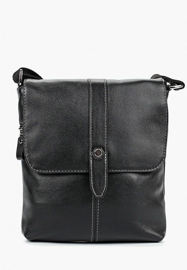 Фото - Мужскую сумку Franchesco Mariscotti черного цвета