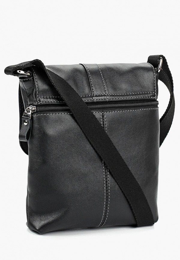Фото 2 - Мужскую сумку Franchesco Mariscotti черного цвета