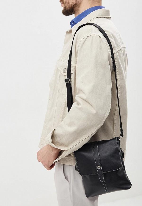 Фото 4 - Мужскую сумку Franchesco Mariscotti черного цвета