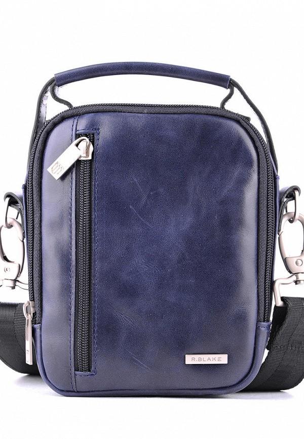 мужская сумка r.blake collection for men, синяя