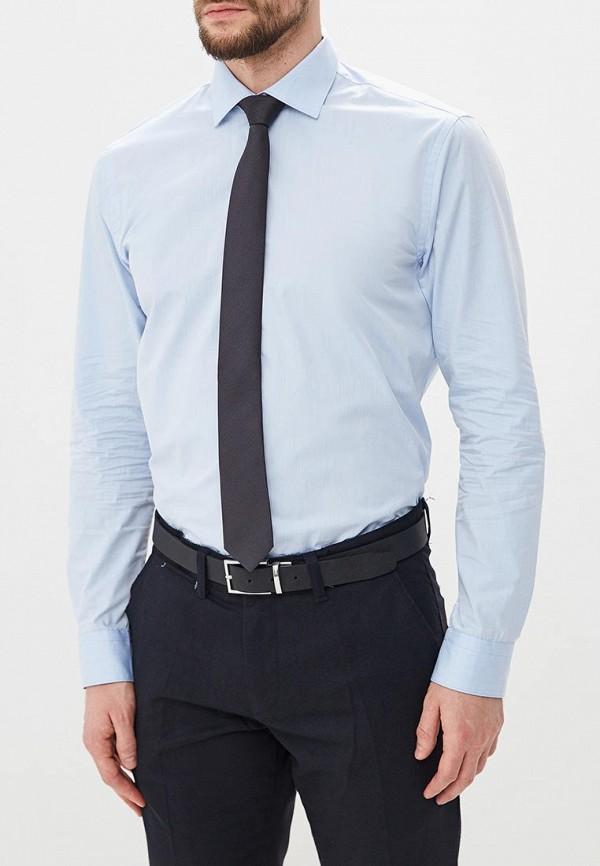 мужская рубашка с длинным рукавом bawer, голубая