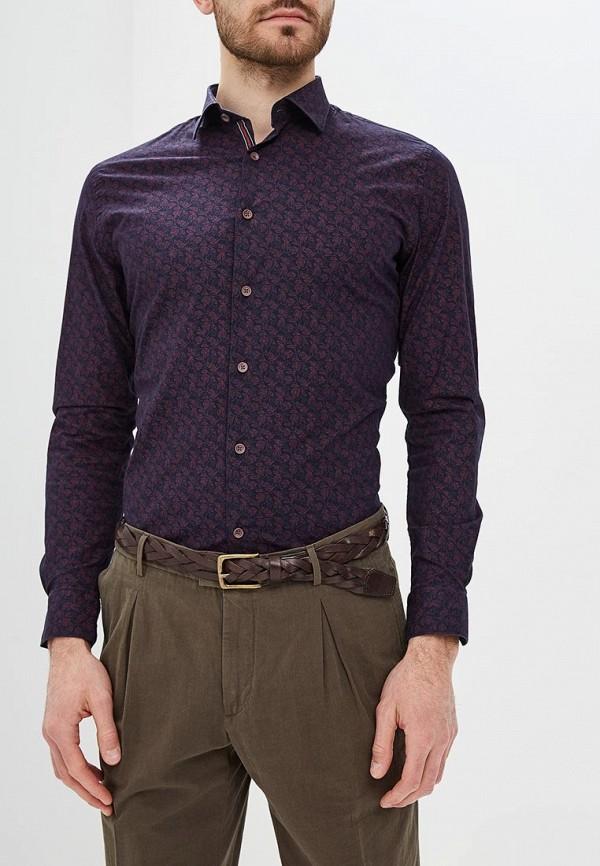 мужская рубашка с длинным рукавом bawer, фиолетовая