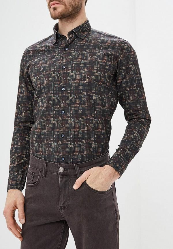 мужская рубашка с длинным рукавом bawer, черная