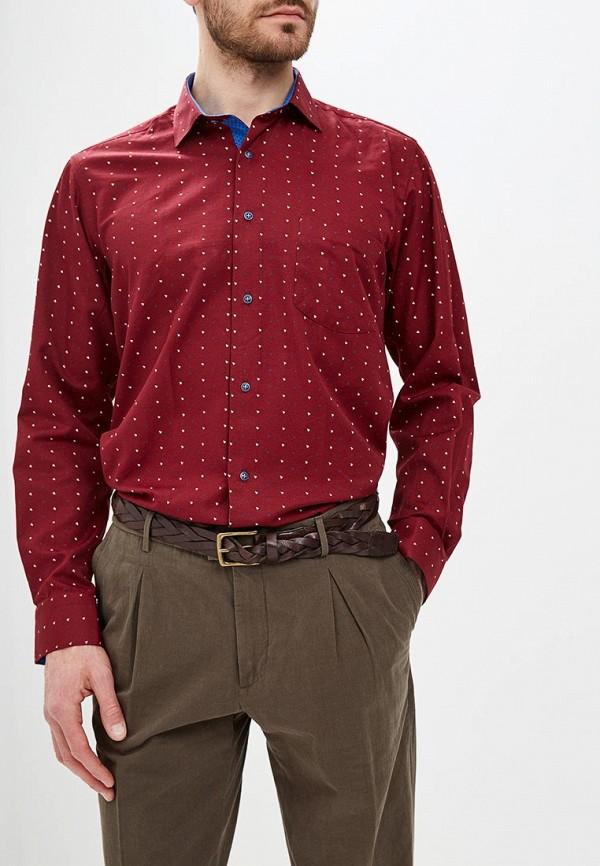 мужская рубашка с длинным рукавом bawer, бордовая