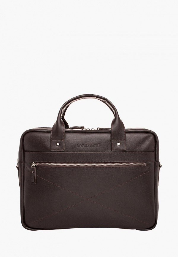 мужская сумка lakestone, коричневая