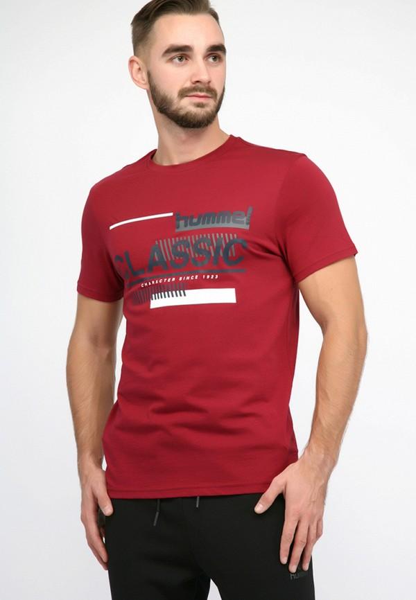 мужская футболка hummel, бордовая