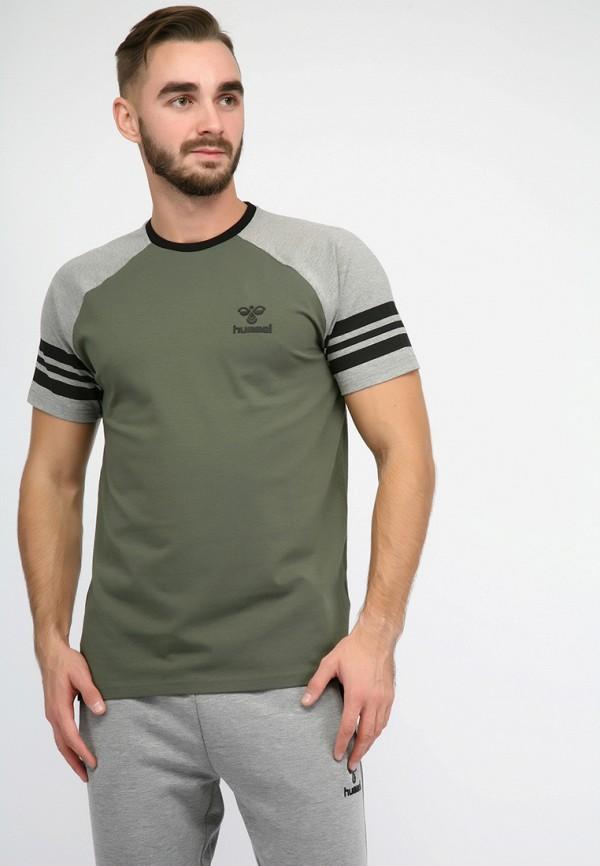 мужская футболка hummel, хаки