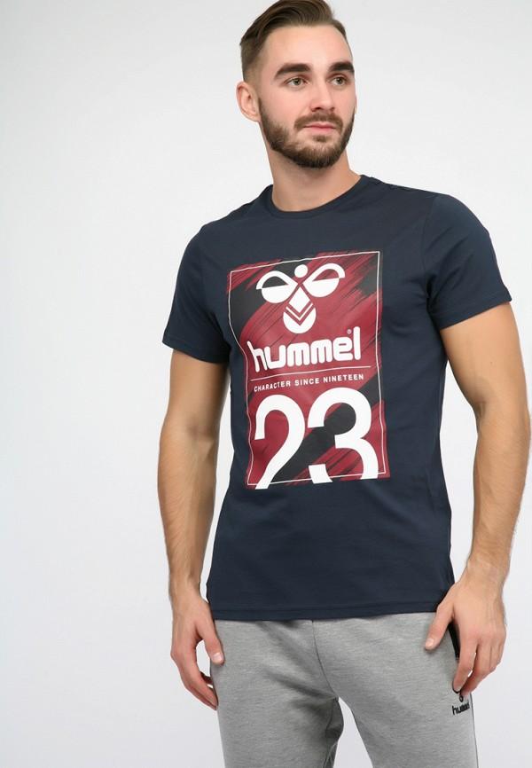 мужская футболка hummel, синяя