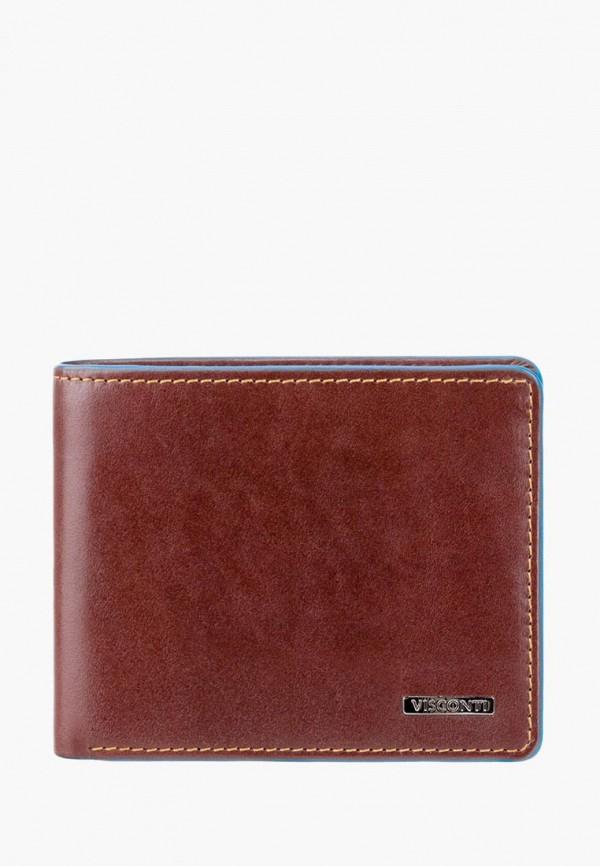 мужской кошелёк visconti, коричневый