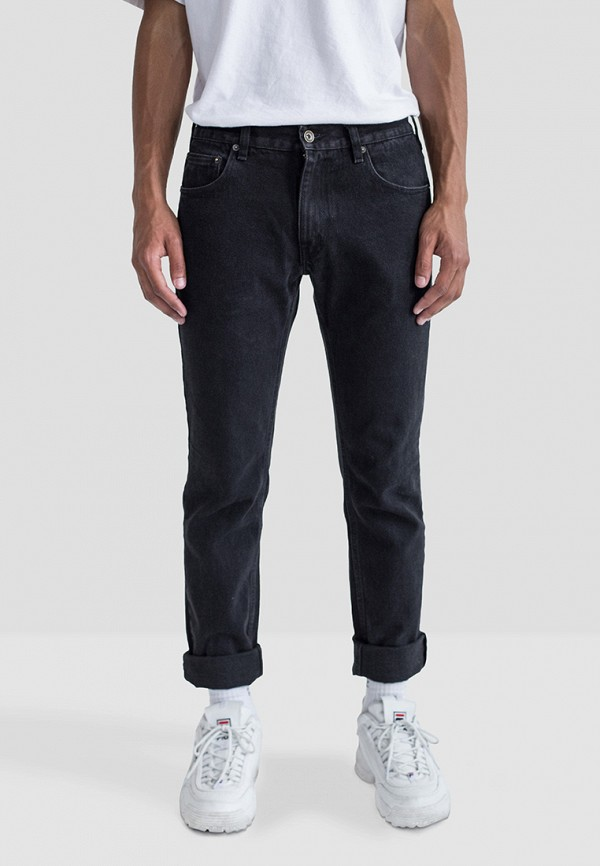 мужские прямые джинсы minnim, черные