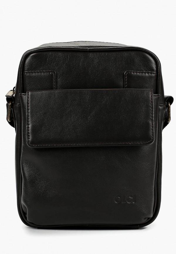 мужская сумка olci, коричневая