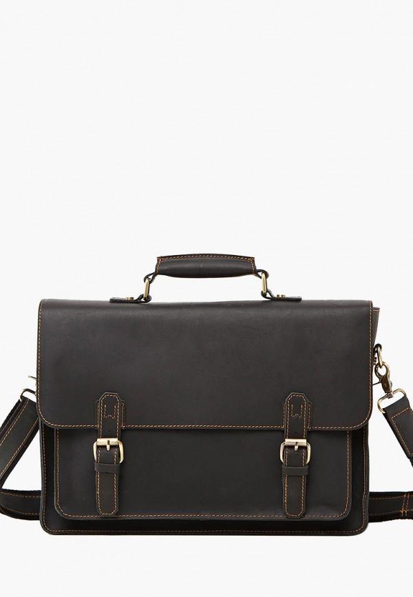 мужской портфель royalbag, коричневый